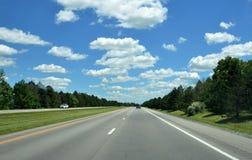 Długa pogodna droga Zdjęcia Stock