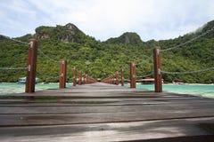 Długi jetty w semporna wyspie Zdjęcie Stock