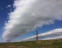 Długi, przesmyk chmury Obrazy Stock
