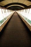 Długi Szklany korytarz Zdjęcie Royalty Free