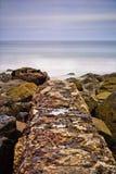 Długi ujawnienie Coronado linia brzegowa w San Diego, Kalifornia Obraz Royalty Free