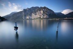 Długi ujawnienie na como jeziorze Fotografia Stock
