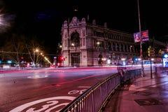 Długi ujawnienie w Madryt Fotografia Stock