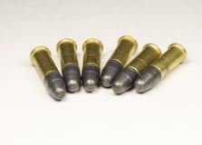 Długie karabinowe Rimfire amunicje Fotografia Royalty Free