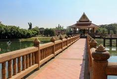 Długiego brigde Tajlandzki styl Zdjęcia Royalty Free