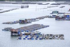 Długiego syna spławowa wioska rybacka obraz royalty free