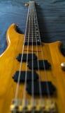 Długiej szyi Basowa gitara obraz royalty free