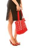 długo czerwone toreb nogi Zdjęcie Royalty Free