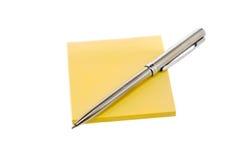 długopis blokowi nalepki Obrazy Royalty Free