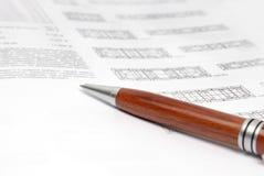 długopis dokumentu fotografia stock
