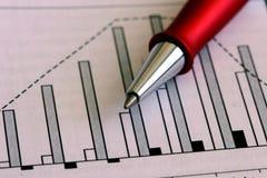 długopis wykresu Obrazy Stock