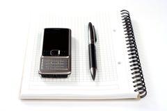 długopisy notepad telefon Obraz Stock