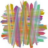 3D, uitgedreven oppervlakten in in de schaduw gestelde kleuren, een abstract patroon Royalty-vrije Stock Afbeeldingen