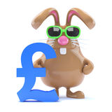 3d UK Pound bunny Royalty Free Stock Images
