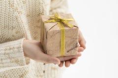 D? uma caixa de presente foto de stock royalty free