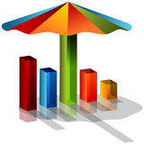 3d Umbrella Chart Royalty Free Stock Images