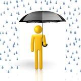 3D umbrella concept Stock Images