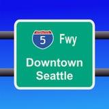 D'un état à un autre au signe de Seattle Image libre de droits