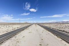 15 d'un état à un autre entre Los Angeles et Las Vegas Images libres de droits