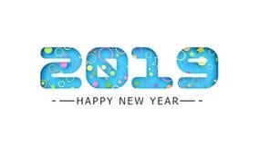 3d una cartolina d'auguri 2019 del nuovo anno illustrazione vettoriale