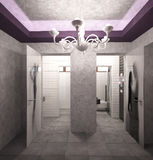3D unaocznienie noc klubu wewnętrzny projekt Zdjęcie Stock