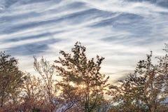 D'une crête en montagne Photo stock