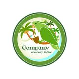 Dżungla napoju logo Obrazy Stock