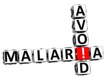 3D Unikają malarii Crossword tekst Obraz Stock