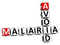3D Unikają malarii Crossword tekst Zdjęcia Stock