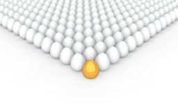 3d unique golden egg concept Royalty Free Stock Photo