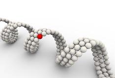 3d unique molecular dna element. 3d rendering of unique red molecular dna Stock Images