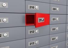 3d unique open deposit box Stock Images