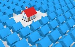 3d unique property concept Stock Images