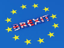 3d United Kingdom and European Union. Brexit Stock Photography