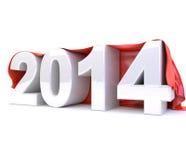 3d 2014 unter rotem Stoff Lizenzfreie Stockbilder