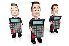 3D uomini d'affari, concetto dei calcolatori illustrazione vettoriale