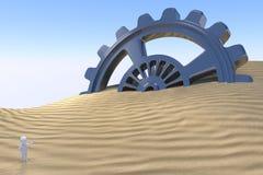 3D uomo - tecnologia di scoperta Fotografia Stock Libera da Diritti
