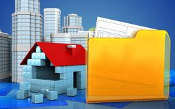 3d with urban scene Royalty Free Stock Photos