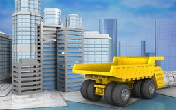 3d with urban scene Royalty Free Stock Photo