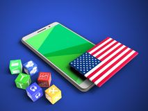 3d USA flag Stock Images