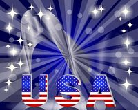 3d USA for the U.S. national holidays Stock Image