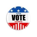 3d usa vote button. On white background royalty free stock images