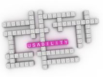 3d Usability word cloud concept Royalty Free Stock Photography