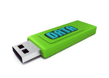 3d usb drive that contains data. 3d usb memory stick  on white Stock Images