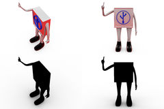 3d usb icon concept collections with alpha and shadow channel Stock Photos