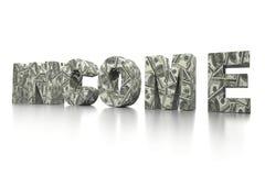 3D USD dochodu słowo Zdjęcie Stock