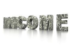 3D USD INCOME word Stock Photo