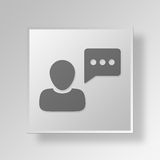 3D user chat icon Business Concept Royalty Free Stock Photos