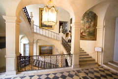D'USSE, FRANCE - 27 AUGUST 2015: Royal castle of d'Usse, Loire V stock image