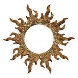3d ustawiający antyczny złocisty ornament na białym tle Obraz Stock